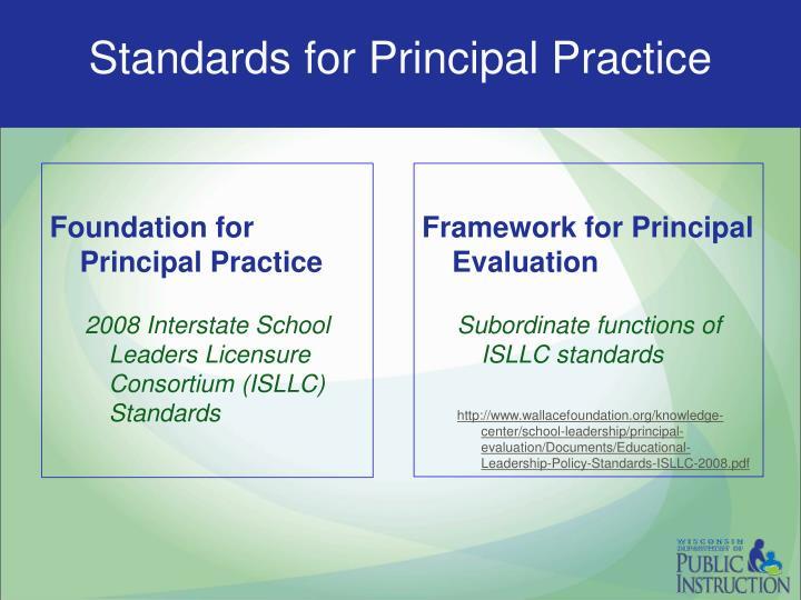 Standards for Principal Practice