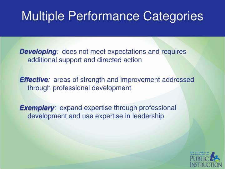 Multiple Performance Categories