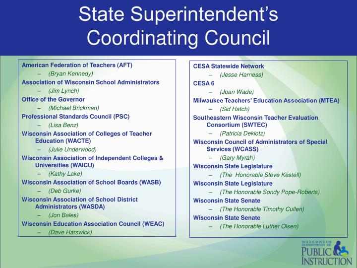 State Superintendent's Coordinating Council