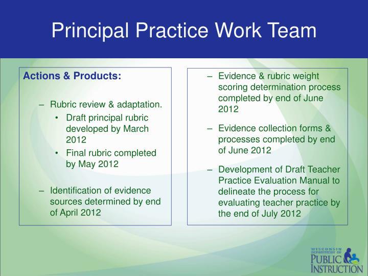 Principal Practice Work Team