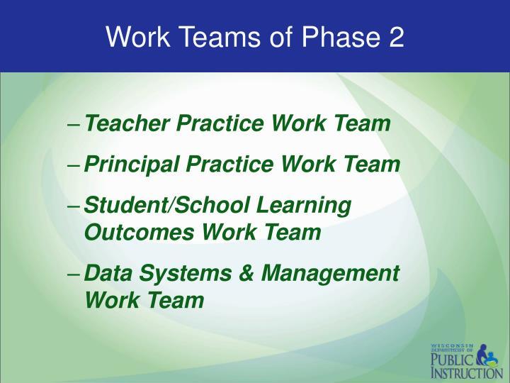 Work Teams of Phase 2