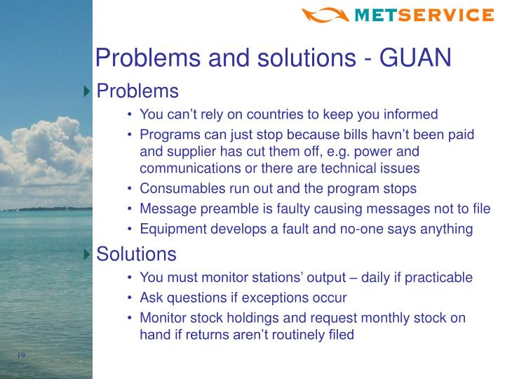 Problems and solutions - GUAN
