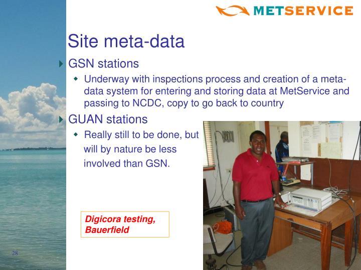 Site meta-data
