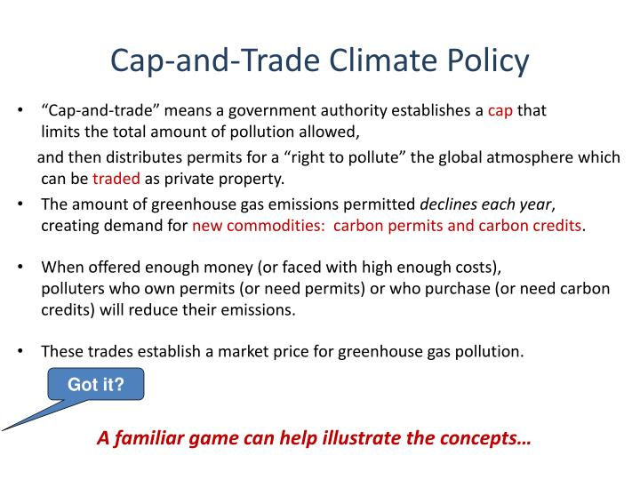 Cap-and-Trade Climate Policy