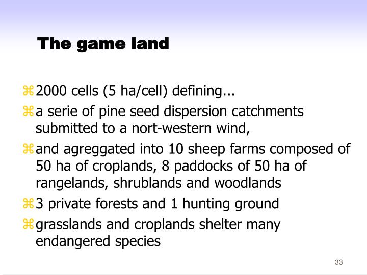 The game land