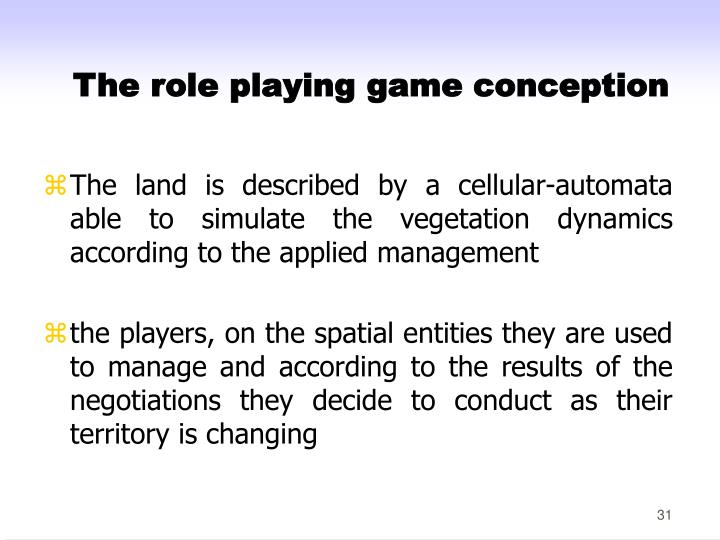 The role playing game conception