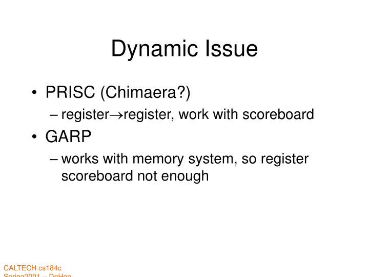 Dynamic Issue