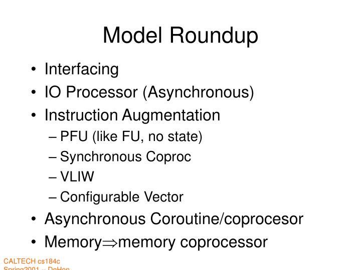 Model Roundup