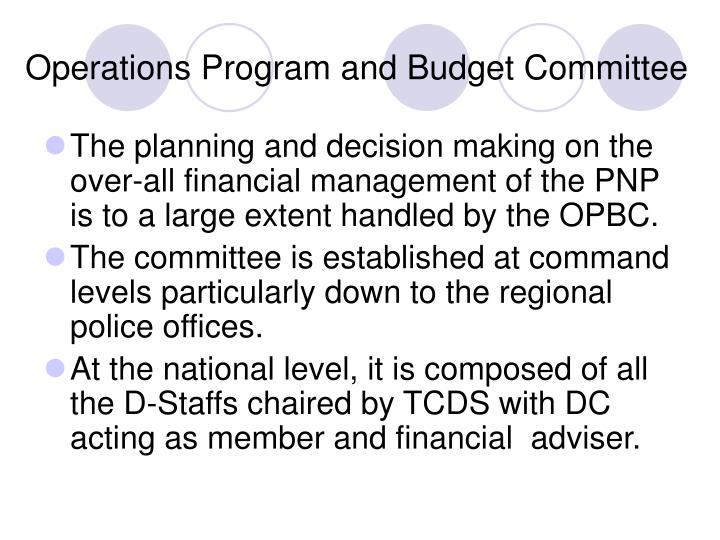 Operations Program and Budget Committee