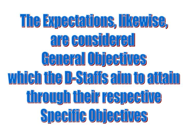The Expectations, likewise,