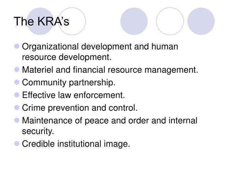 The KRA's