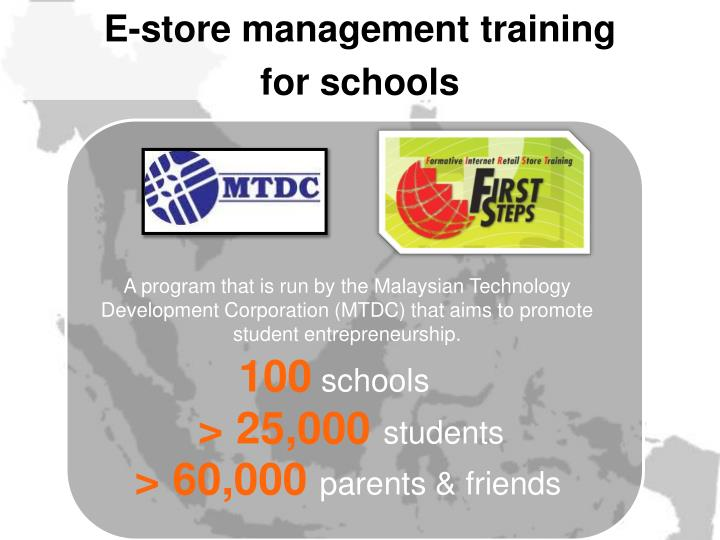 E-store management training