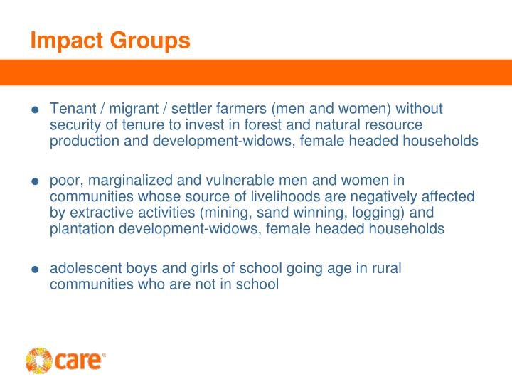 Impact Groups
