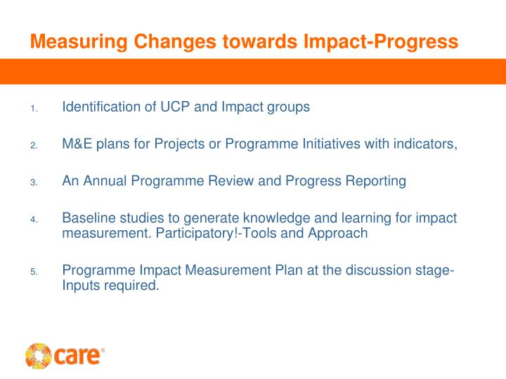 Measuring Changes towards Impact-Progress
