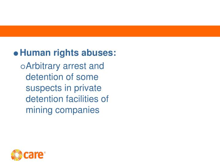 Human rights abuses: