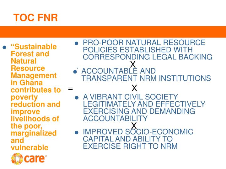 PRO-POOR NATURAL RESOURCE POLICIES ESTABLISHED WITH CORRESPONDING LEGAL BACKING