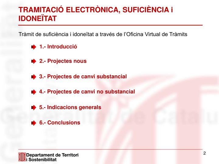 TRAMITACIÓ ELECTRÒNICA, SUFICIÈNCIA i IDONEÏTAT