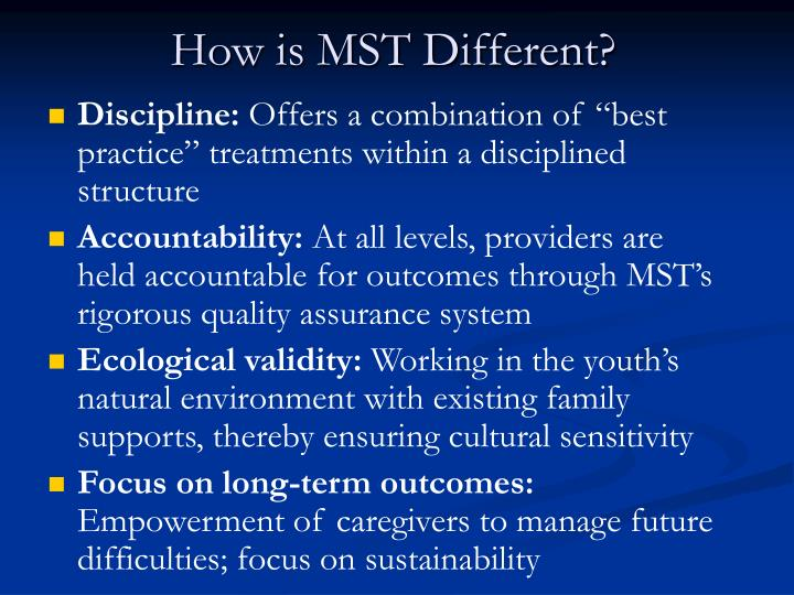 How is MST Different?