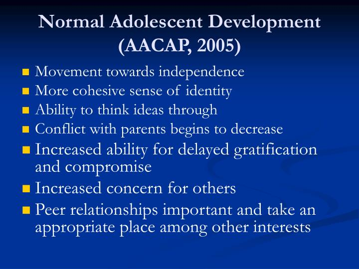 Normal Adolescent Development