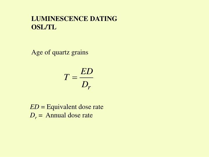 LUMINESCENCE DATING