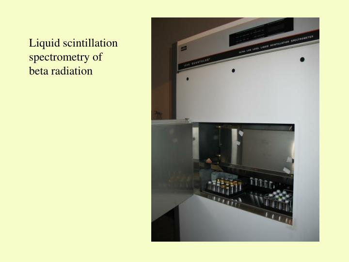 Liquid scintillation spectrometry of beta radiation