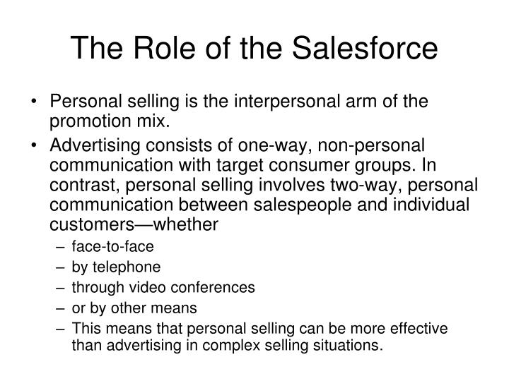 The Role of the Salesforce