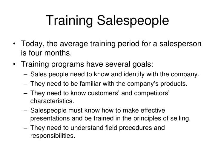 Training Salespeople