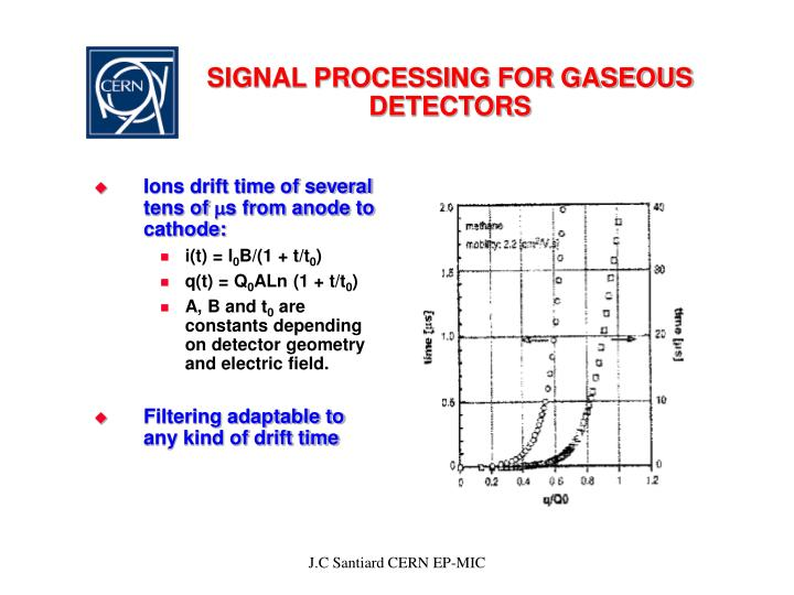 Signal processing for gaseous detectors