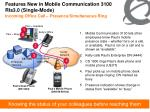 features new in mobile communication 3100 rls3 0 single mode
