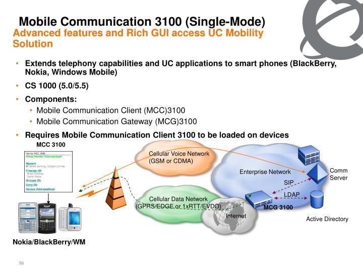 Mobile Communication 3100 (Single-Mode)