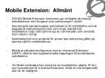 mobile extension allm nt