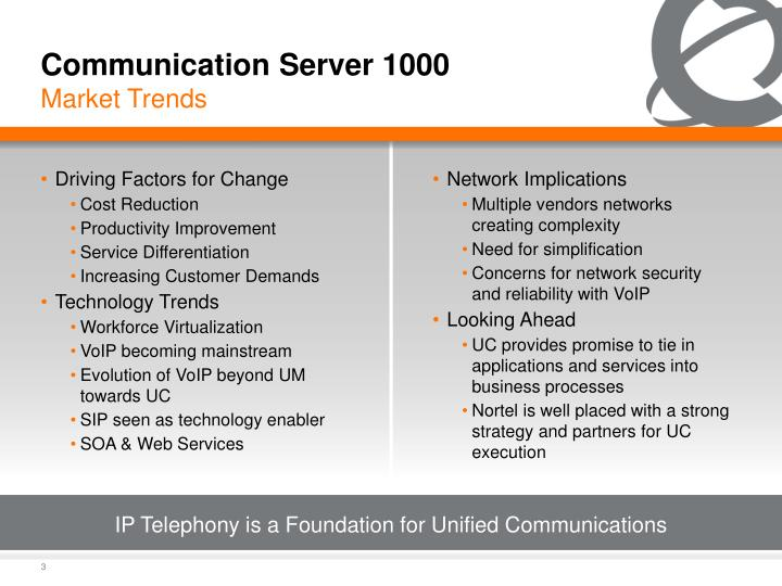 IP Telephony is a Foundation for Unified Communications