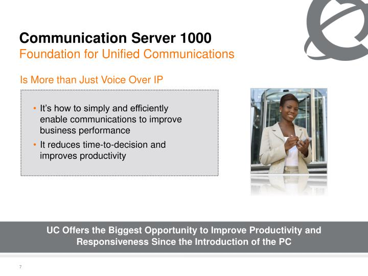 It's how to simply and efficiently enable communications to improve business performance