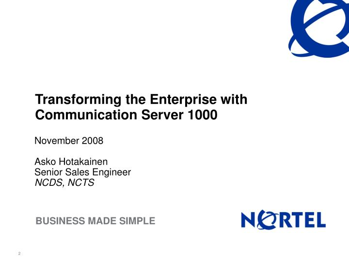 Transforming the Enterprise with