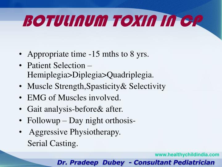 BOTULINUM TOXIN IN CP