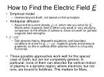 how to find the electric field e