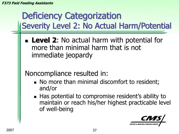 Deficiency Categorization