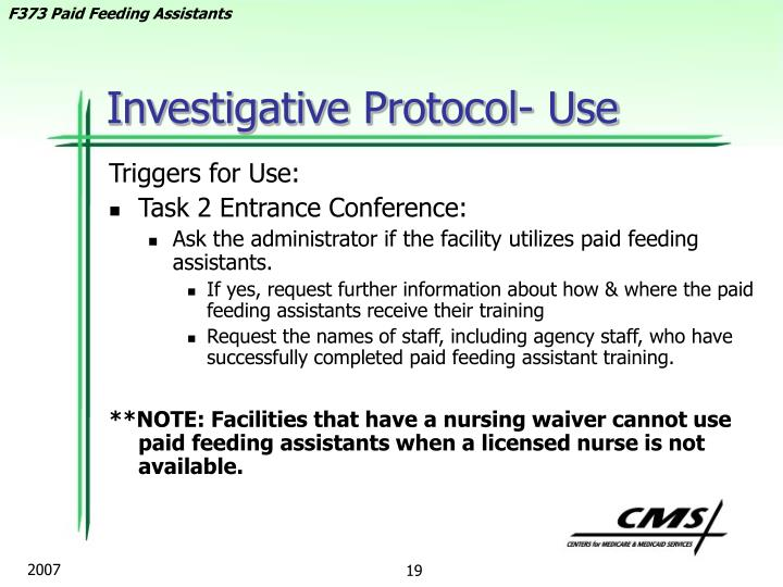 Investigative Protocol- Use