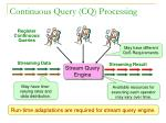 continuous query cq processing