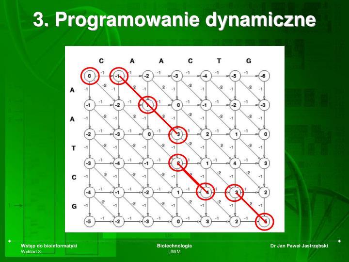 3. Programowanie dynamiczne