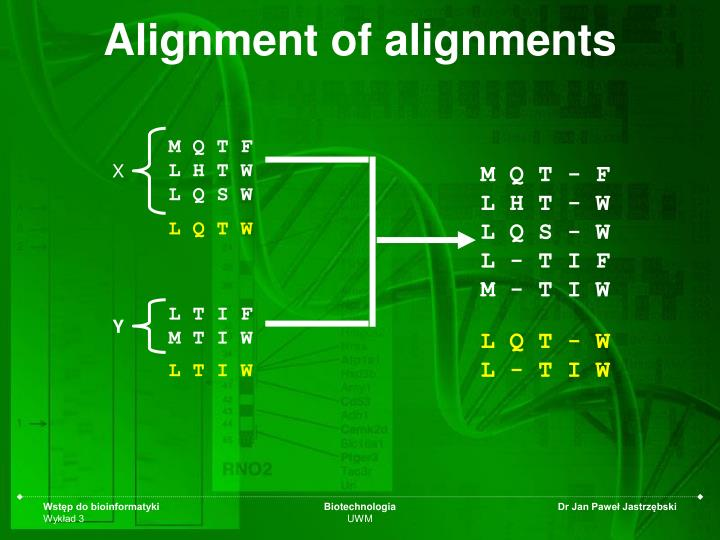 Alignment of alignments