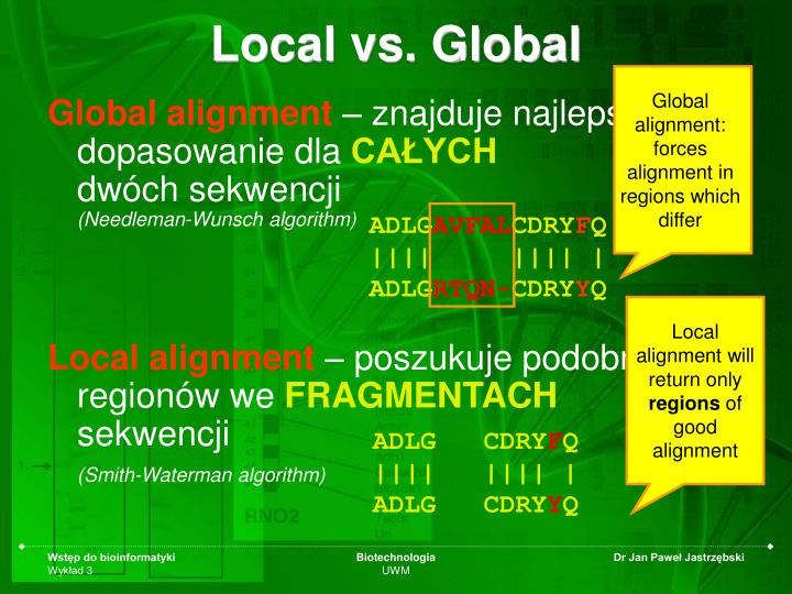 Local vs. Global