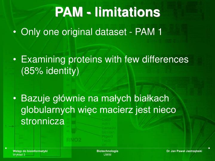 PAM - limitations