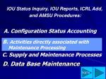 d data base maintenance