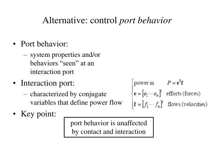 Alternative: control