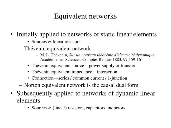 Equivalent networks