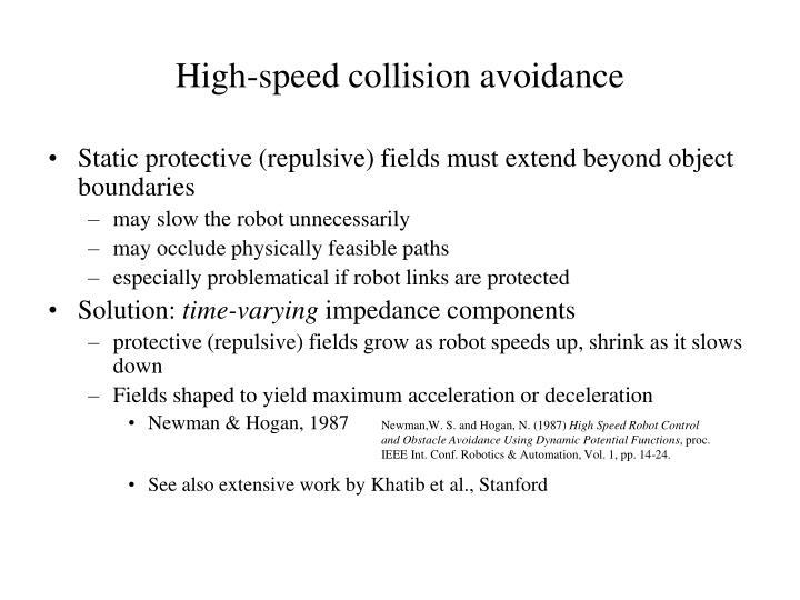 High-speed collision avoidance