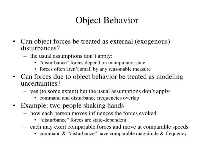 Object Behavior