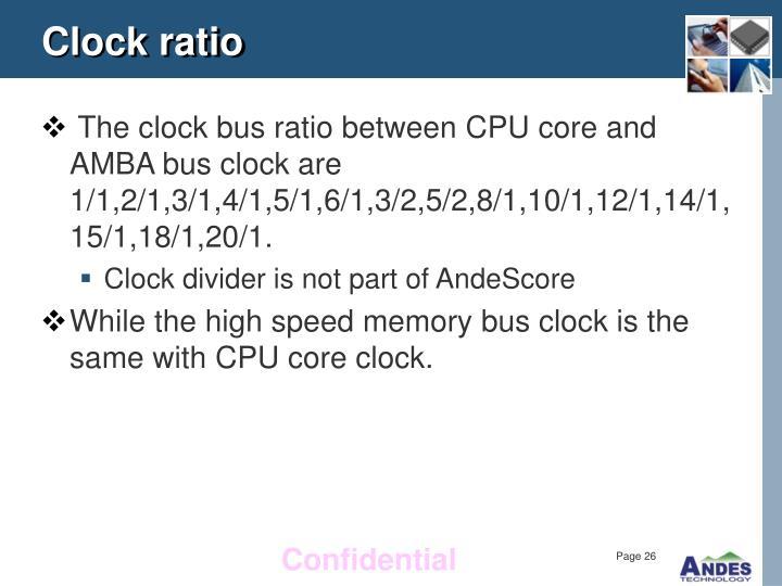 Clock ratio