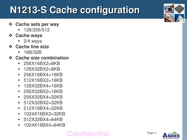 N1213-S Cache configuration